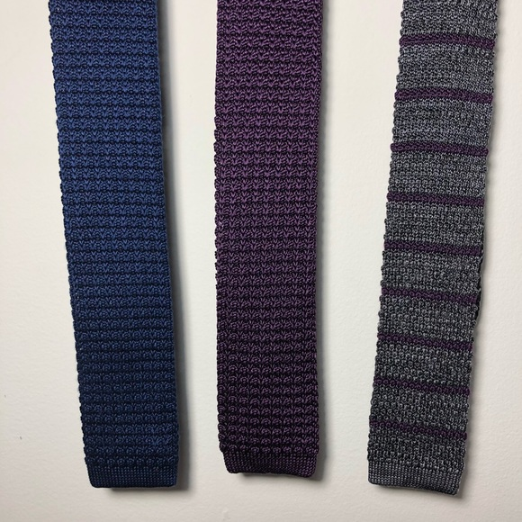 63a39c2523bd The Tie Bar Accessories | Set Of 3 100 Silk Knit Ties | Poshmark